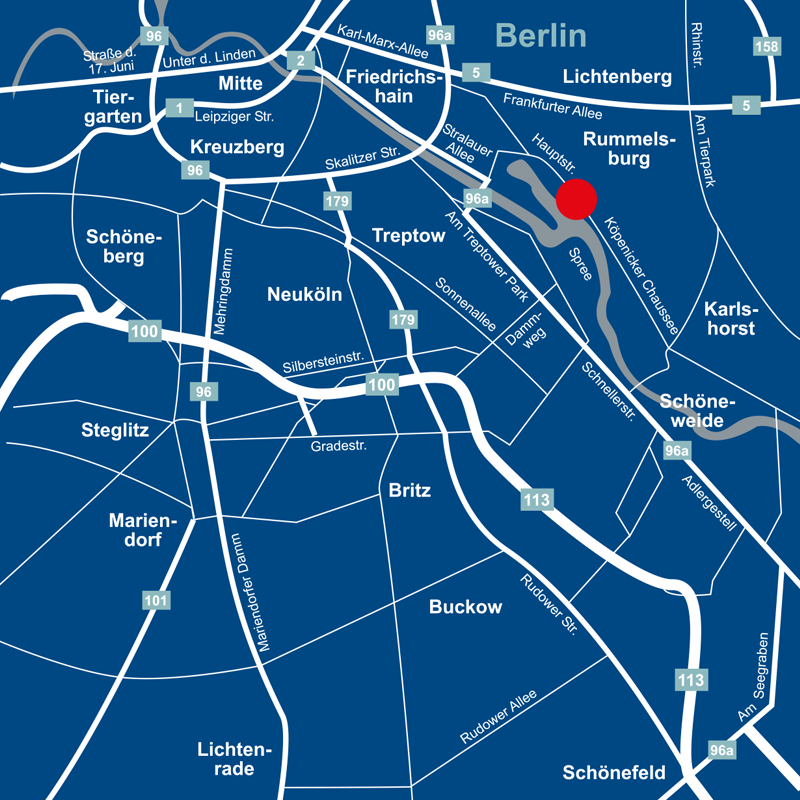 Lage Hafen und Hof - Berlin