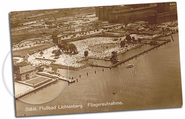 Postkarte Flussbad Lichtenberg